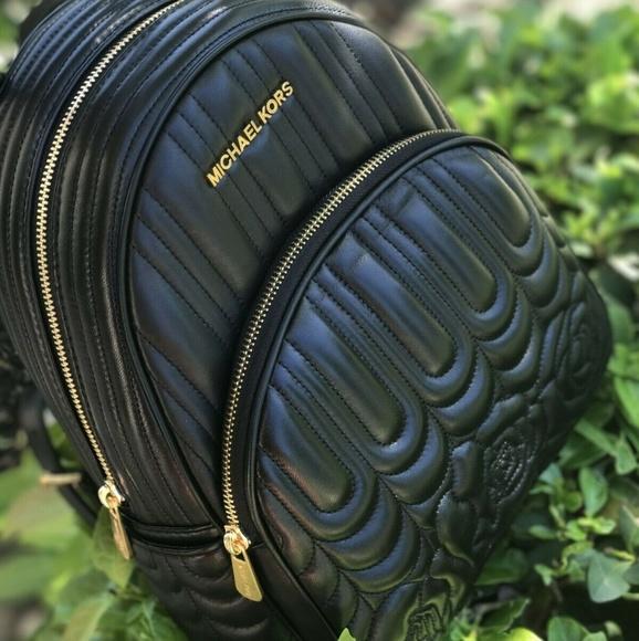 Michael Kors Handbags - Michael Kors Abbey MD Qulted Leather Backpack